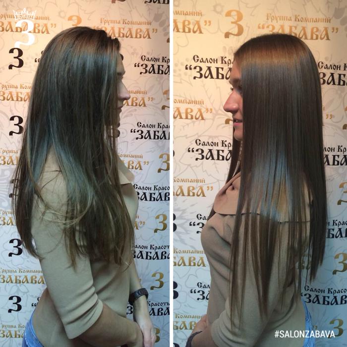 Бразильское выпрямление волос BRAZILIAN BLOWOUT салон красоты забава